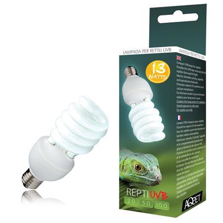 Lampada uvb uva 5 0 5 repti uvb glo compact lampada per for Lampada raggi uvb per tartarughe